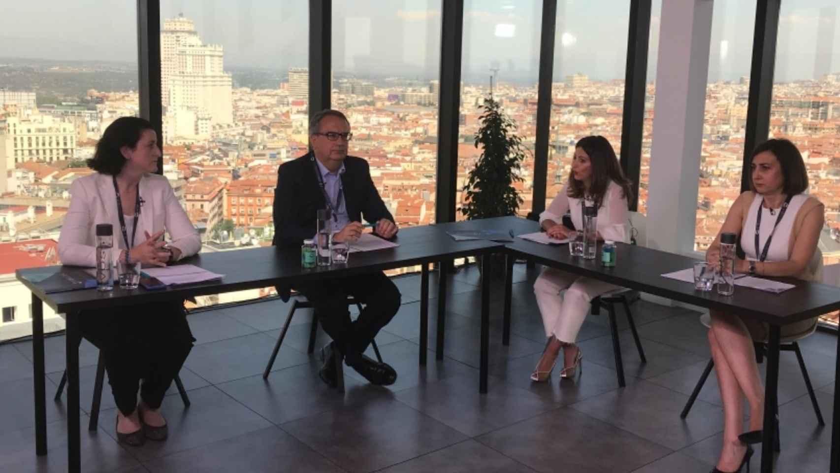 Un momento durante la presentación de la nueva marca de Santalucía.
