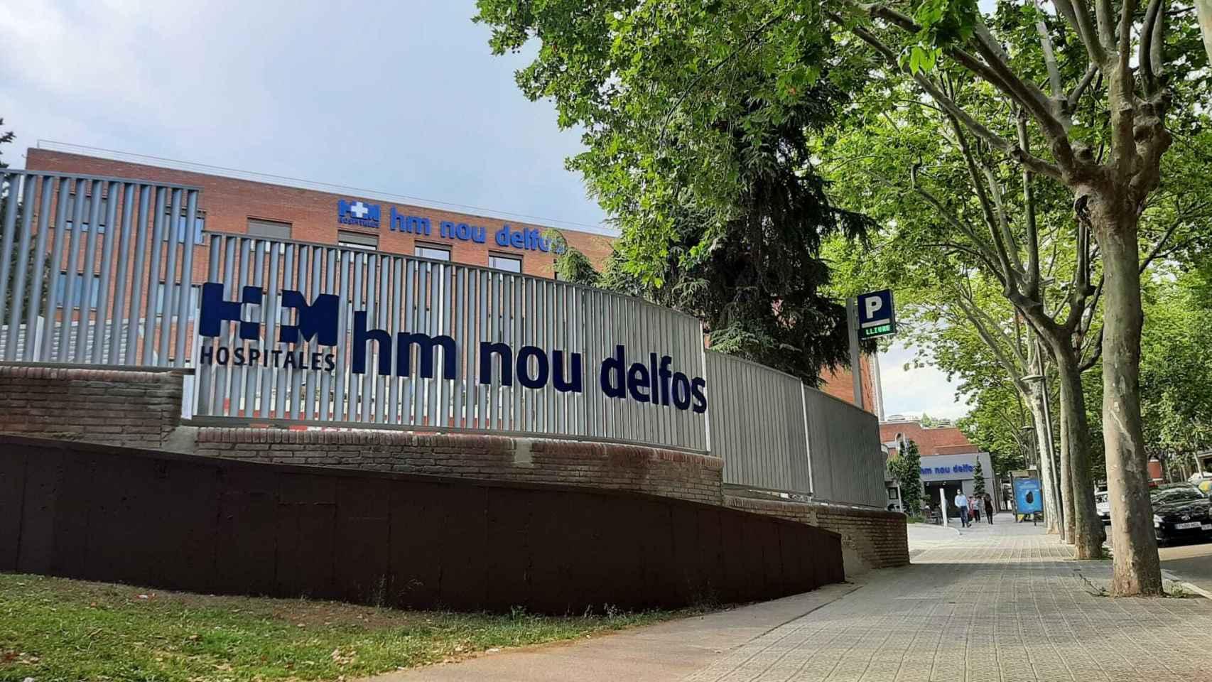 Exteriores del Hospital HM Nou Delfos.