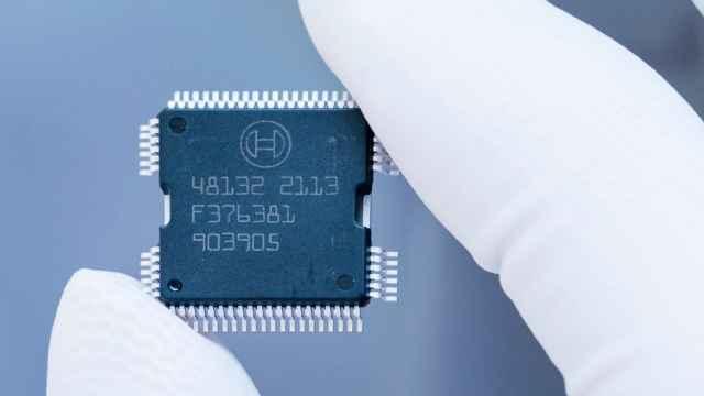 Imagen de un chip fabricado por Bosch.