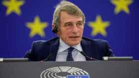 El presidente de la Eurocámara, David Sassoli