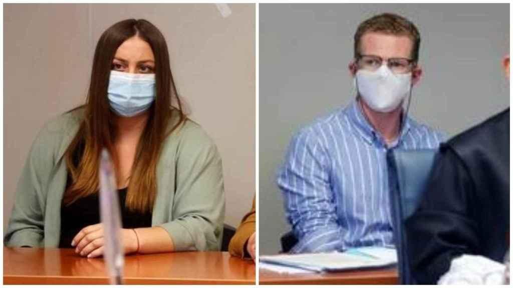 María y Gabriel, durante el juicio. EFE
