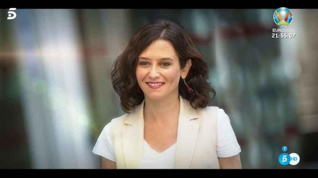 Isabel Díaz Ayuso en una imagen emitida en el programa 'Mi casa es la tuya'.