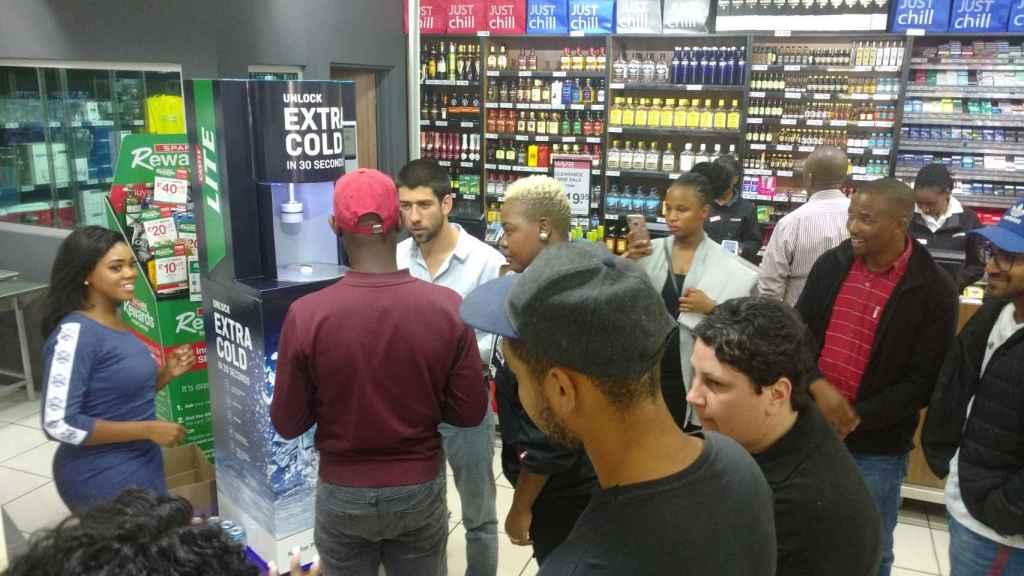 Demostración de la máquina en Sudáfrica