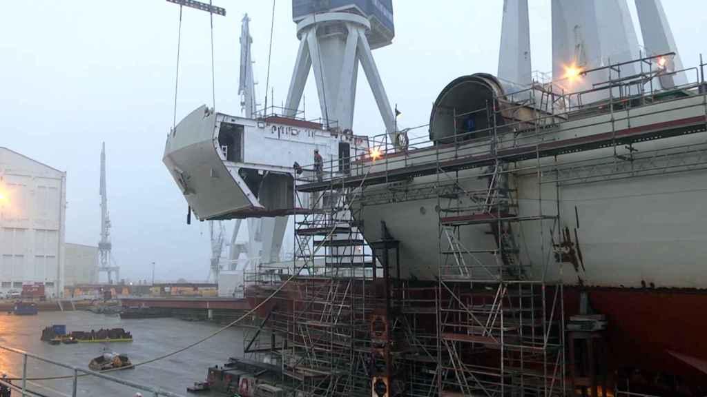 Astillero de Navantia con tecnología 5G.