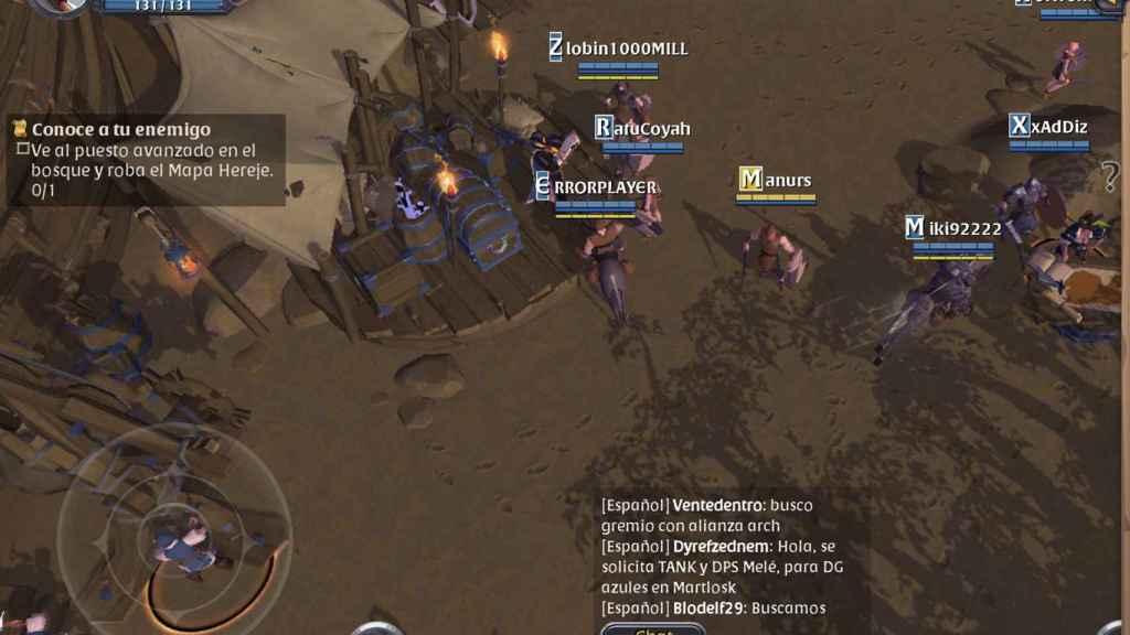 Decenas de jugadores en pantalla en Albiol Online