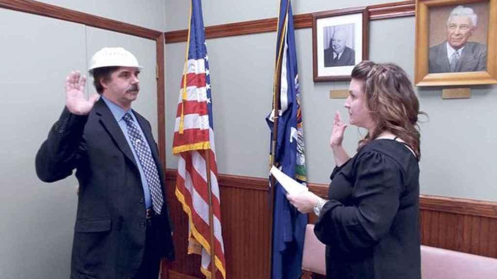 El político americano, durante la ceremonia del juramente del cargo.