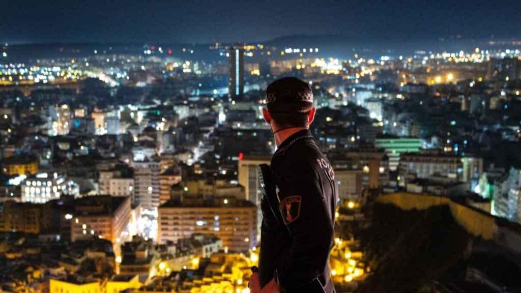 Un Policía Local en Alicante.