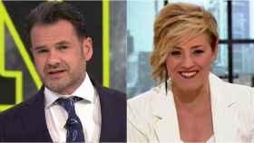 Iñaki López y Cristina Pardo en montaje de BLUPER.