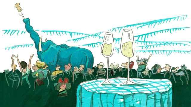 Dibujo de Pere Joan para Cava Tutum Ba de Terra de Falanis.