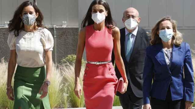 La reina Letizia asiste al acto de inauguración del Santander WomenNow en Madrid.