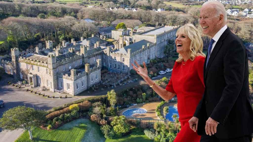 El castillo de Tregenna, el hotel de lujo  donde se aloja Joe Biden en Inglaterra