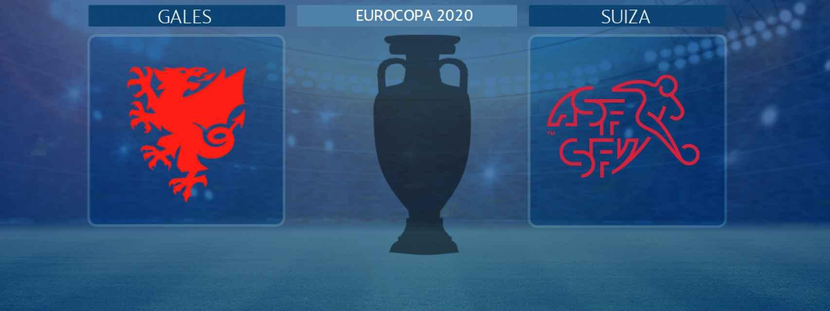 Gales - Suiza,  partido de la Eurocopa 2020
