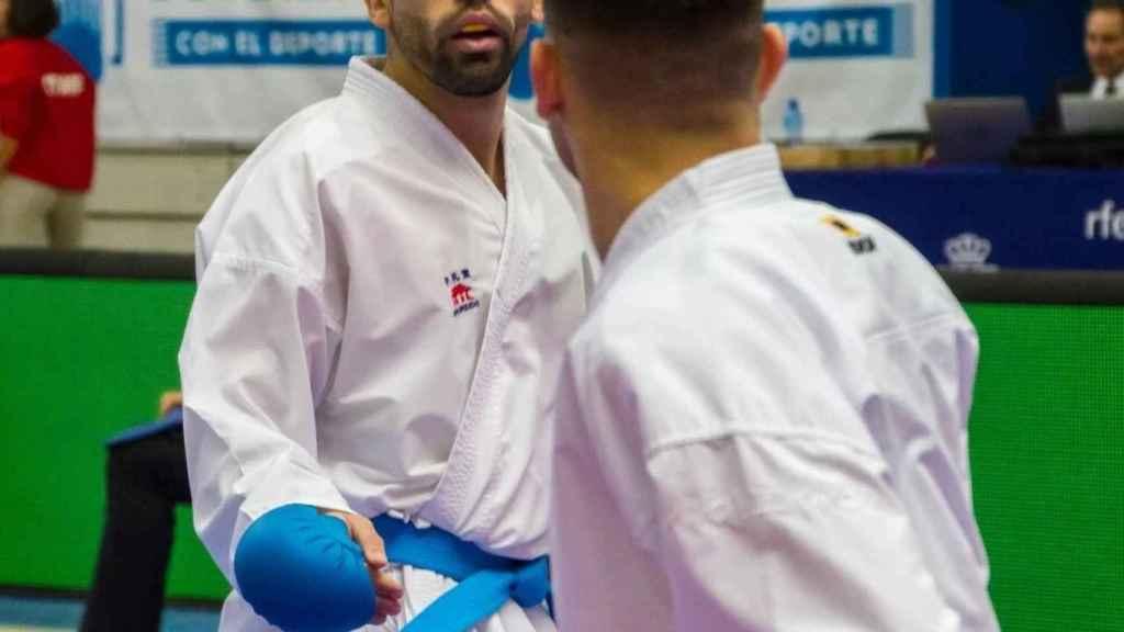 Raúl Cuerva durante un combate