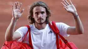 Tsitsipas, tras lograr el pase a la final de Roland Garros.