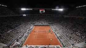 Pista de Roland Garros durante el Djokovic - Nadal
