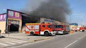 Una imagen de los bomberos trabajando en la zona (Foto: Twitter 112 Castilla-La Mancha)