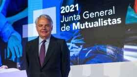 Ignacio Garralda durante la última junta de mutualistas.