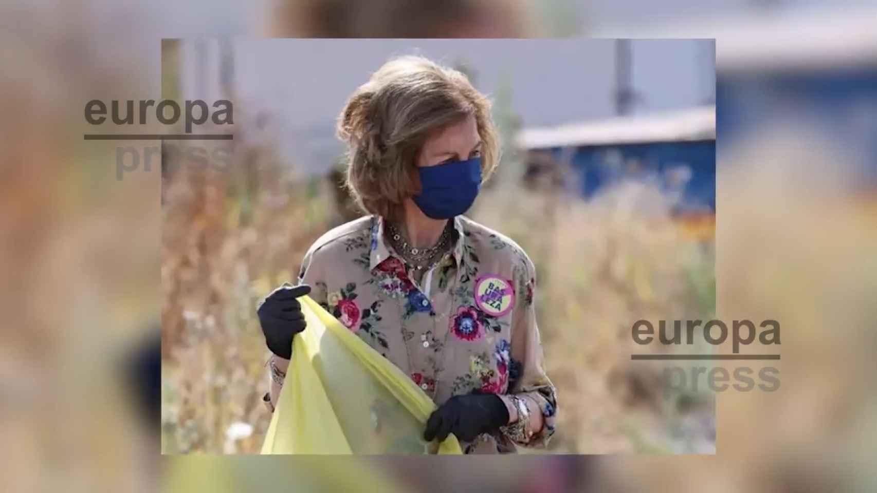 La Reina Sofía se moviliza contra la 'basuraleza'