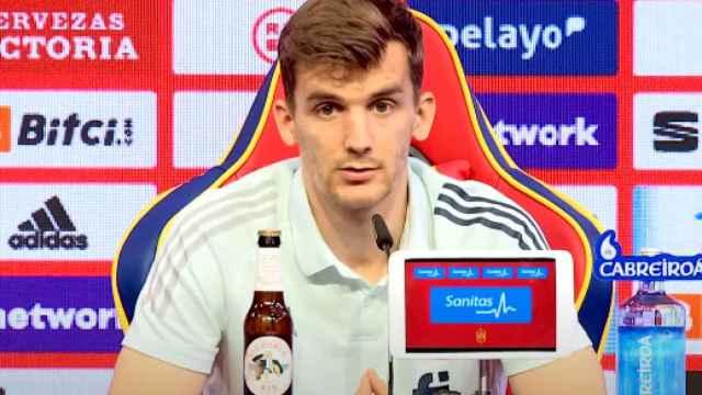 Diego Llorente, en rueda de prensa