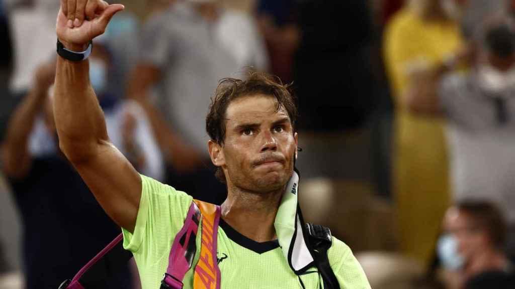 Nadal, tras caer eliminado en Roland Garros.