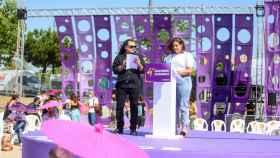 Los candidatos a secretarios generales de Unidas Podemos, Fernando Barrero y Sarai Delgado. EP