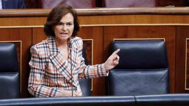 La vicepresidenta primera del Gobierno español, Carmen Calvo. Efe