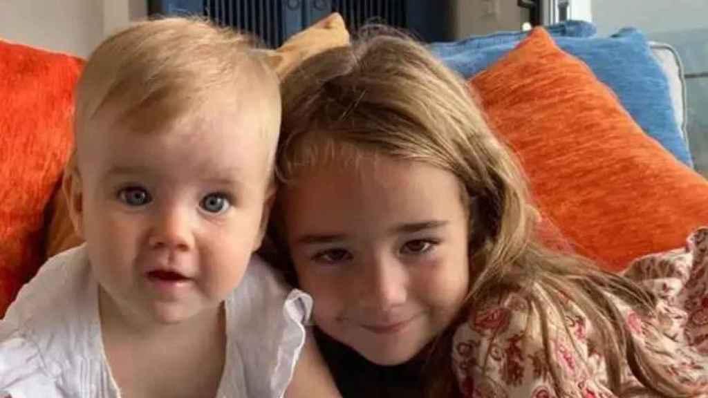 Las pequeñas Anna y Olivia Gimeno.