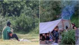 Acampada de la Familia Arcoíris en La Rioja.
