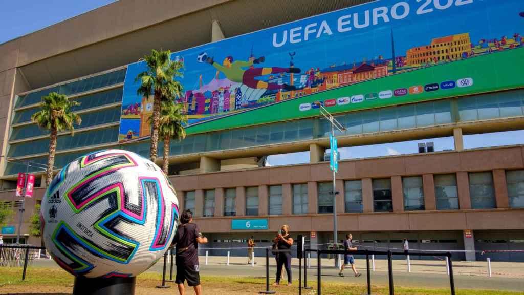 Los exteriores del Estadio de La Cartuja de Sevilla