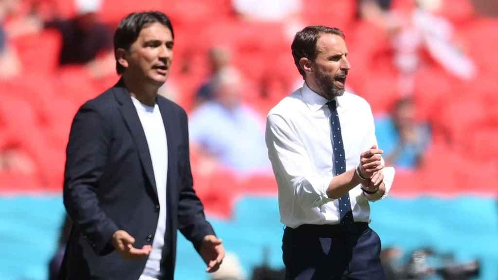 Zlatko Dalic y Gareth Southgate, durante el Inglaterra - Croacia