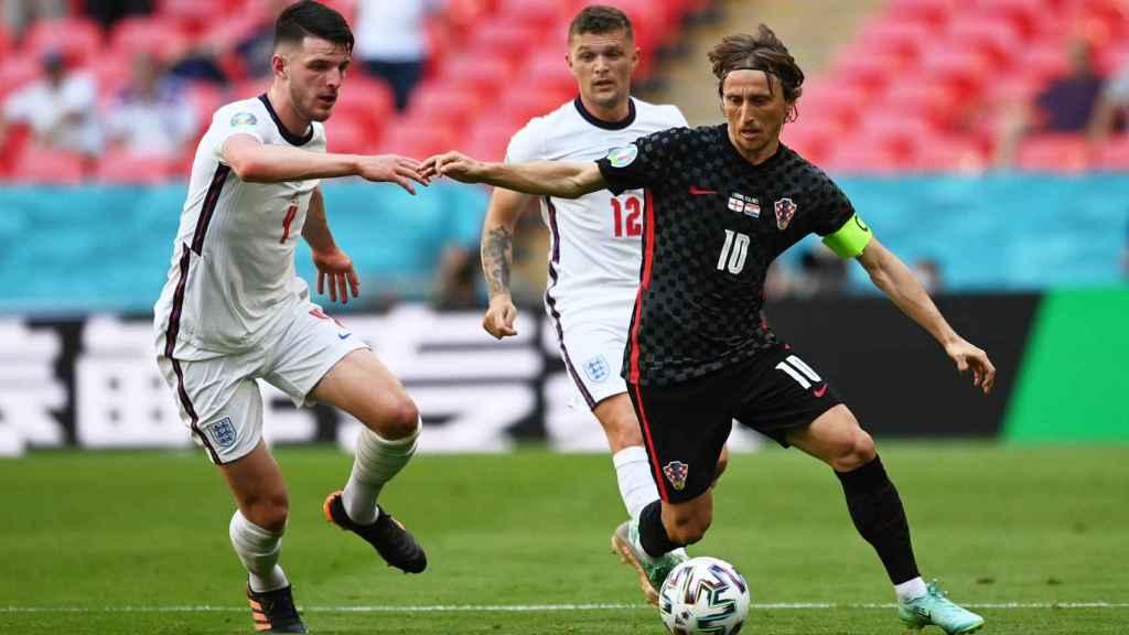 Luka Modric, durante el partido entre Inglaterra y Croacia