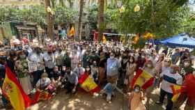 El Presidente del PP de Alicante ha asistido junto a otros políticos a la protesta contra los indultos del procés.