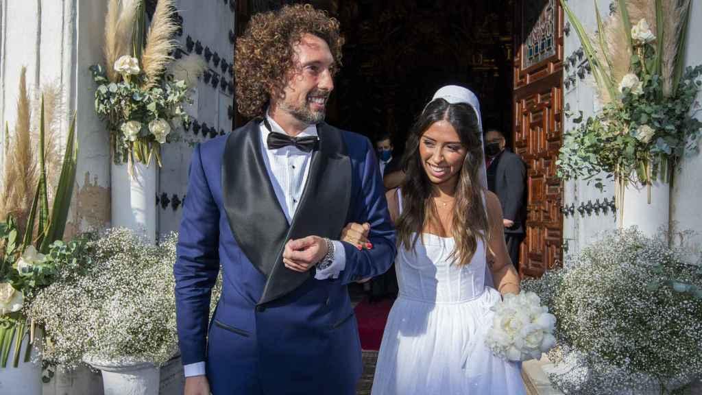José Antonio León y Rocío Madrid tras darse el 'sí, quiero'.