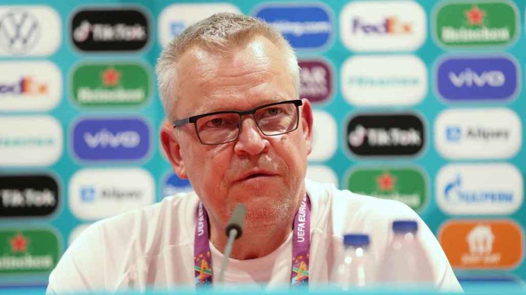 Janne Andersson, seleccionador de Suecia, en rueda de prensa