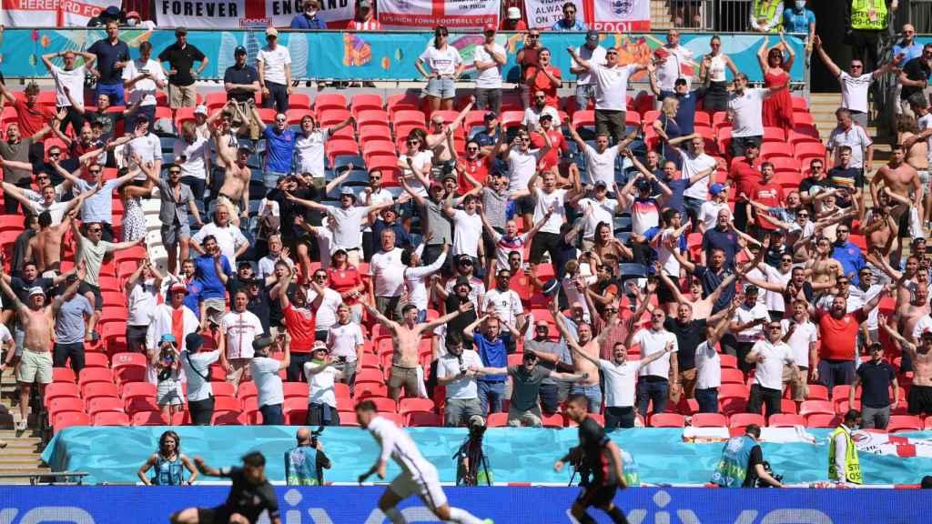 Aficionados en el estadio de Wembley durante el Inglaterra - Croacia