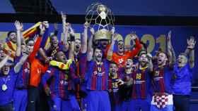 El Barça celebra su título de la Liga de Campeones 2021