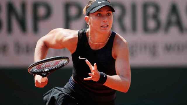 Badosa, durante los cuartos de final de Roland Garros.