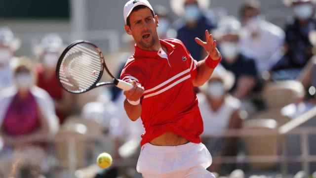 Djokovic, durante la final de Roland Garros.