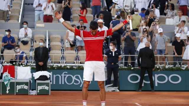 La final de Roland Garros entre Novak Djokovic y Stefanos Tsitsipas, en imágenes