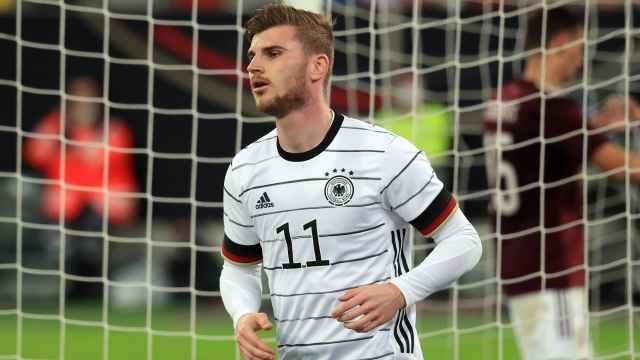 Timo Werner, en un partido de la selección de Alemania