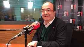 El ministro de Política Territorial y Función Pública, Miquel Iceta, durante una entrevista en RAC1.