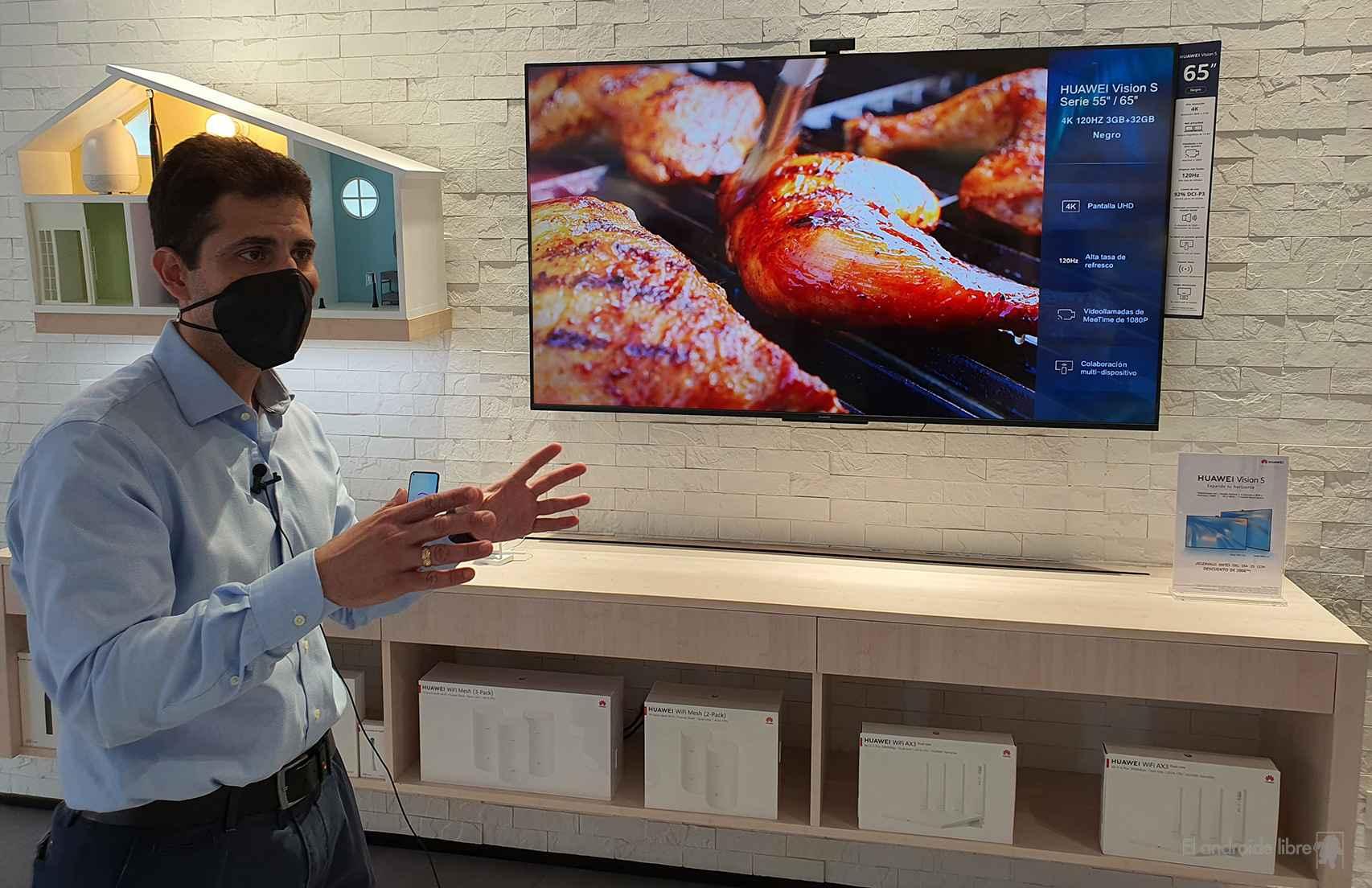Huawei presentando su S Vision