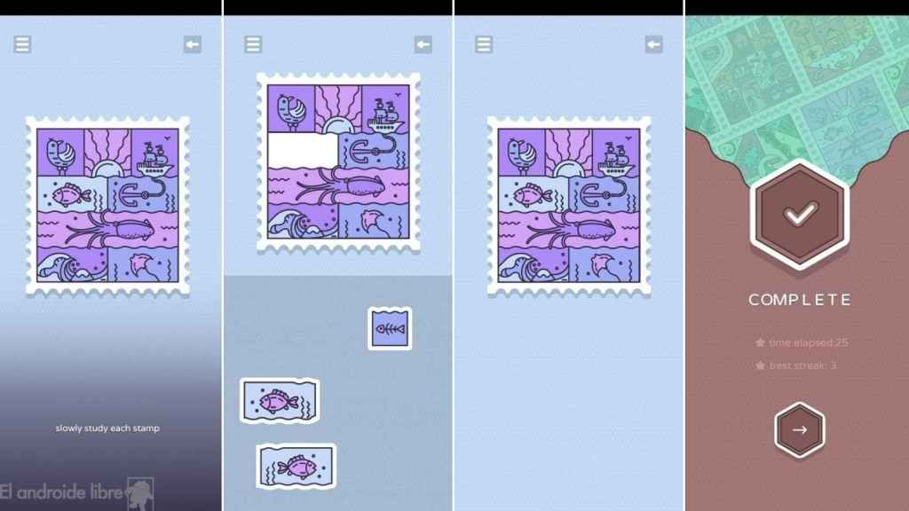 Memory Stamps puzzles