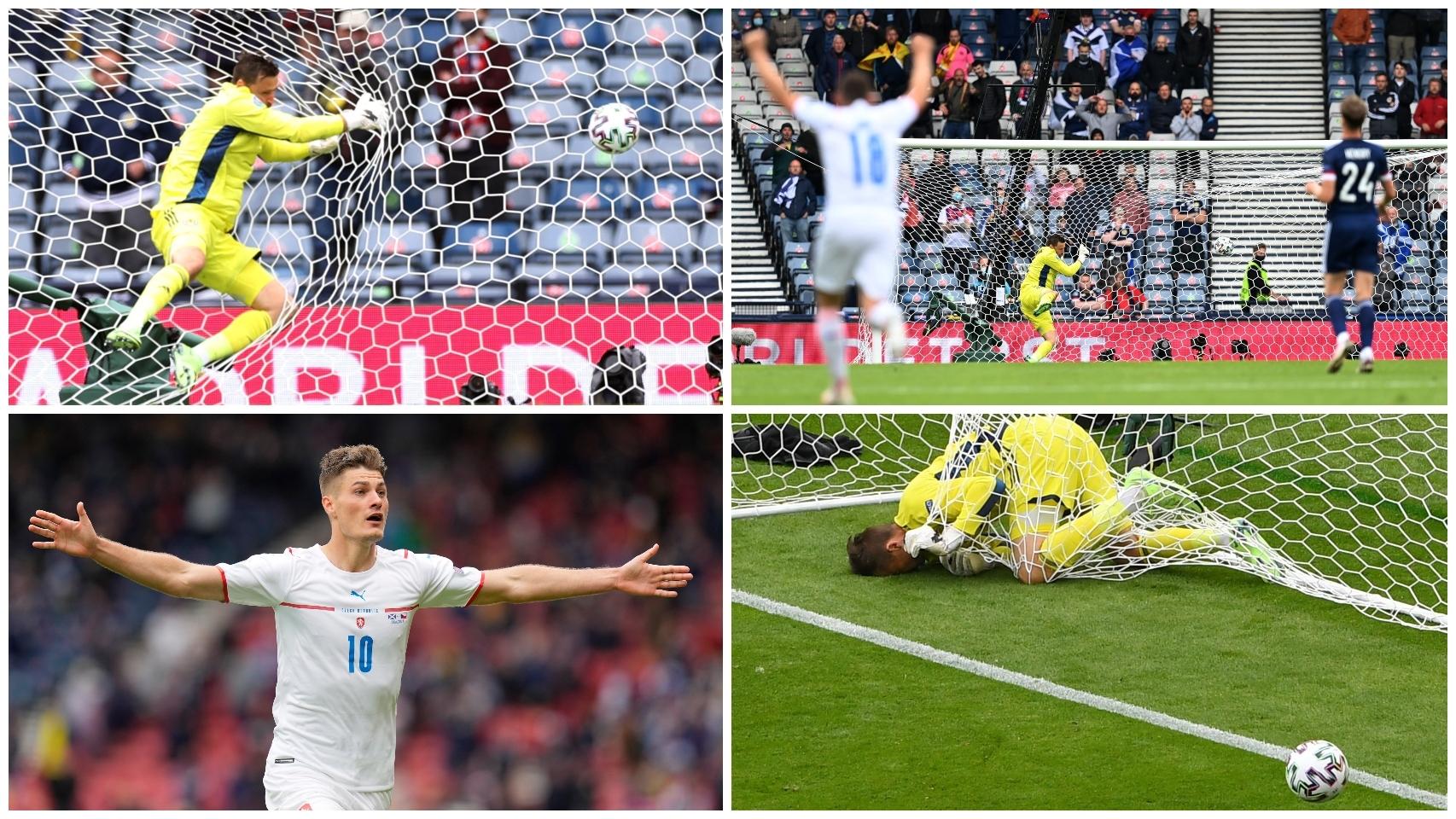 Schick hace el gol de la Eurocopa