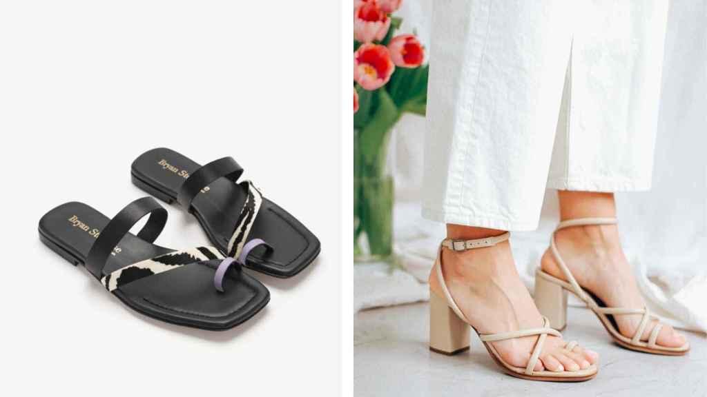 Las sandalias elegidas por las 'influencers' son el modelo Mara y Zoe.