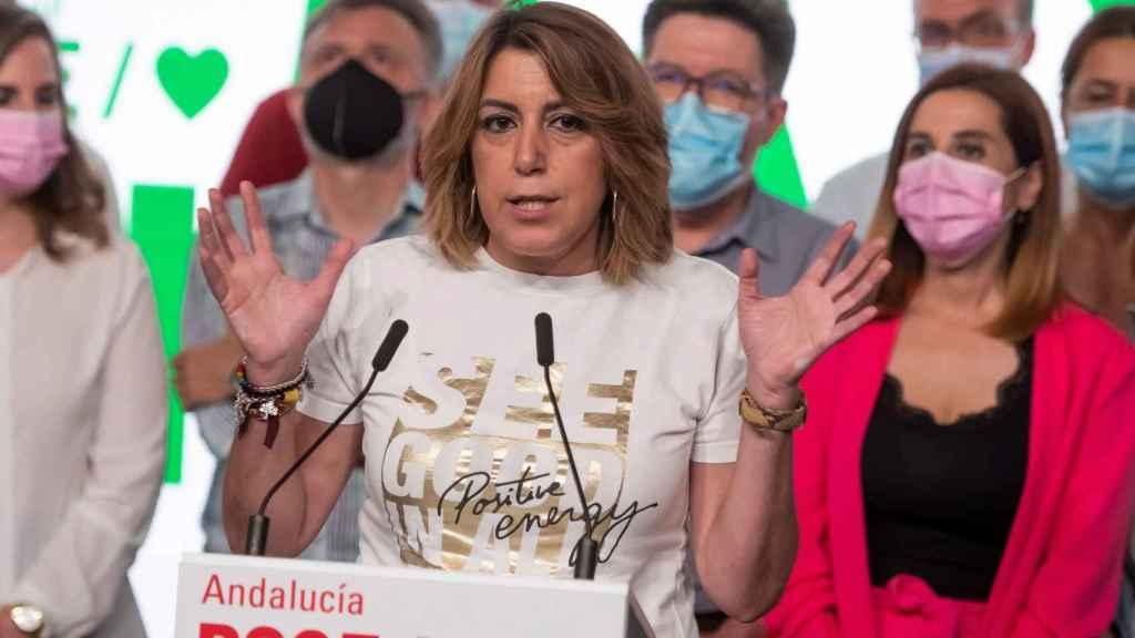 Susana Díaz, tras su derrota el domingo.