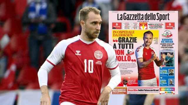 Eriksen, en la portada de La Gazzetta dello Sport