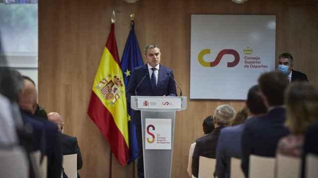 José Manuel Franco, durante su toma de posesión como presidente del Consejo Superior de Deportes