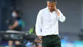 Luis Enrique se lamenta por una ocasión desaprovechada por la Selección