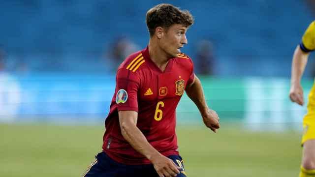 Marcos Llorente, en un partido de la selección española de fútbol